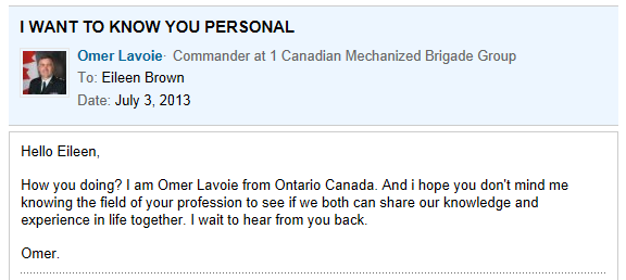 Omer lavoie scammers on dating